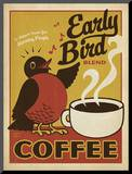Early Bird Blend Coffee Mounted Print by  Anderson Design Group