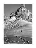 Skifahren bei Cortina d'Ampezzo, 1920er Jahre Fotografisk trykk av  Scherl