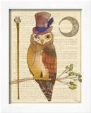 Steampunk Owl II Print by Elyse DeNeige
