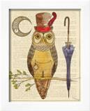 Steampunk Owl I Prints by Elyse DeNeige