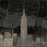 Vintage New York in Black I Giclee Print by Dylan Matthews