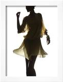 Silhouette of a Woman Framed Photographic Print by Graeme Montgomery