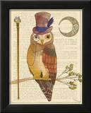 Steampunk Owl II Prints by Elyse DeNeige
