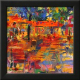 Falling Leaves, Paris Framed Giclee Print by Peter Graham