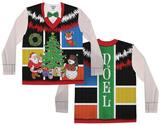 Long Sleeve: Ugly Noel Xmas Vest w/Bow Tie Tee Koszulki