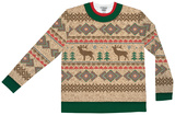 Long Sleeve: Traditional Reindeer Sweater Tee T-Shirts