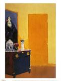 Interior with Yellow Door Affiches par Kees van Dongen