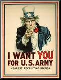 I Want You for the U.S. Army Recruitment Poster Mounted Print by James Montgomery Flagg