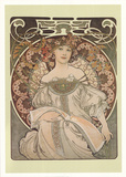 La Reverie Collectable Print by Alphonse Mucha