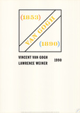 Homage to Vincent Van Gogh Samlertryk af Lawrence Weiner