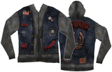 Long Sleeve: Zip Hoodie Biker Costume Top (Front/Back) Zip Hoodie