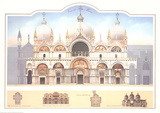 Venezia- San Marco Samlertryk af Libero Patrignani