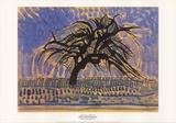 Blue Tree Samletrykk av Piet Mondrian