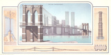 New York - Brooklyn Bridge Collectable Print by Libero Patrignani