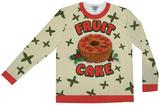 Long Sleeve: Fruit Cake Xmas Sweater Tee T-skjorte