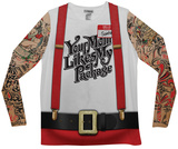 Long Sleeve: Christmas Tattoos & Suspenders Tee - Tişört