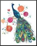 Splendid Peacock Mounted Print by Kim Anderson
