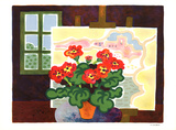 Geraniums Collectable Print by Guy Charon