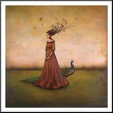 Empty Nest Invocation Mounted Print by Duy Huynh