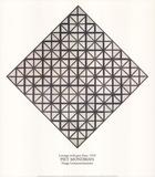 Lozenge with Grey Lines Samletrykk av Piet Mondrian