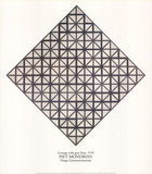 Lozenge with Grey Lines コレクターズプリント : ピエト・モンドリアン