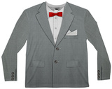 Long Sleeve: Retro Bow Tie Suit Tee T-Shirt
