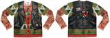 Long Sleeve: Xmas Biker Sweater w/Tattoos Tee T-Shirt