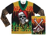 Long Sleeve: Heavy Metal Xmas w/Tattoos Tee Vêtements
