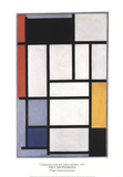 Composition with Red, Yellow and Blue Collectable Print by Piet Mondrian