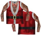 Long Sleeve: Santa Suit Tank w/Tattoos Tee - T-shirt