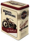Harley-Davidson Flathead - Tin Box Rariteter