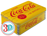 Coca-Cola - Logo Yellow - Tin Box Originalt