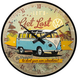 VW Let's Get Lost - Wall Clock Uhr