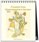 Flowers from Shakespeare's Garden - 2016 Easel Calendar Calendars