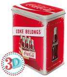 Coca-Cola - Logo Red, Coke Belongs - Tin Box Originalt