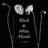 Black and White Florals - 2016 Calendar Calendars