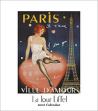 Eiffel Tower - 2016 Easel Calendar Calendars