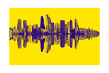 Chicago City Beat Yellow Giclee Print by  GI ArtLab