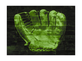 Baseball Glove - Green Giclee Print