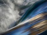 River Wave Kunst på metall av Ursula Abresch