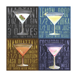 Martini 4-Up Giclee Print by Cory Steffen