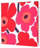 Marimekko®  Unikko Fabric Panel - Red Pieni 13x13 Stretched Fabric Panel