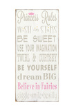 Princess Rules Giclee Print by  Barn Owl Primitives
