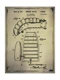 Boxing Glove Patent 2 Buff Giclee Print