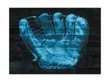 Baseball Glove - Blue Giclee Print
