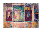 Wall Fresco with Architecture, C. 40-30 B.C. Prints