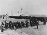 German and Italian Prisoners Captured by the British in Bardia, Libya Photo