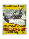 U.S. World War 2 Propaganda Poster Responding to Japanese Brutality to Prisoners of War Prints