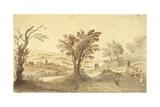 Landscape Print by Gaspar van Wittel