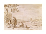 Landscape with Figures, 1729 Giclee Print by Sebastiano Ricci
